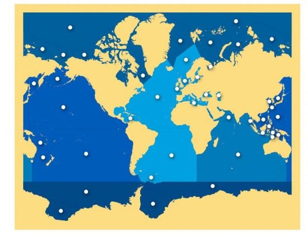 Puzzlekarte Meere und Ozeane