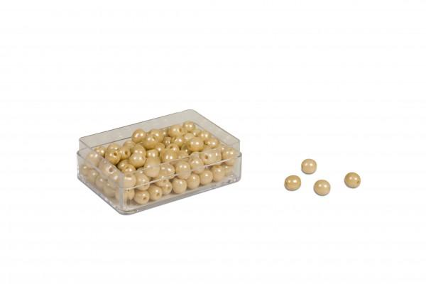 100 goldene Perlen Glasperlen