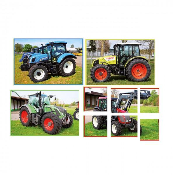 Traktoren Set mit 6 Puzzle