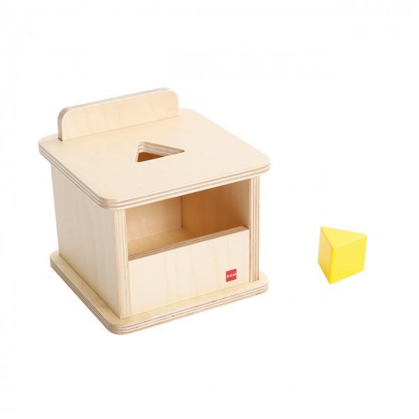 Kasten mit gelbem dreiseitigem Prisma (GAM)