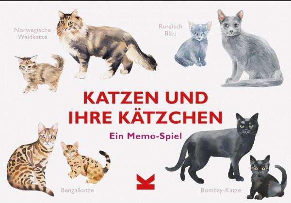 Katzen und ihre Kätzchen Memospiel
