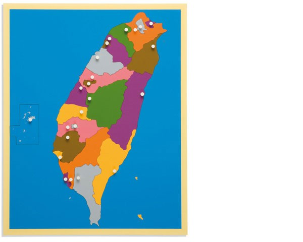 Puzzlekarte Taiwan