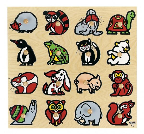 Viele Tiere Knöpfepuzzle