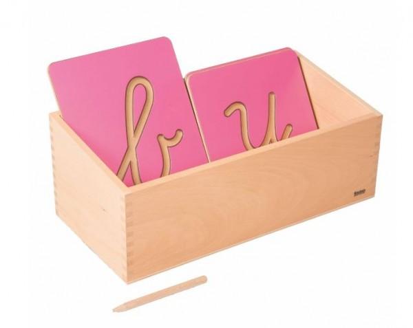 Kasten für Rillenbuchstaben