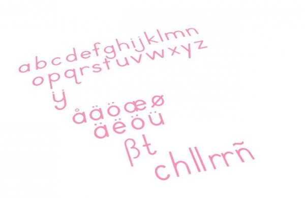 Bewegliches Alphabet klein
