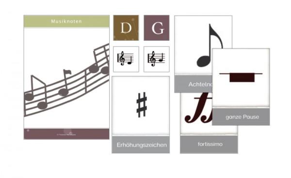 Musiknoten und Notation