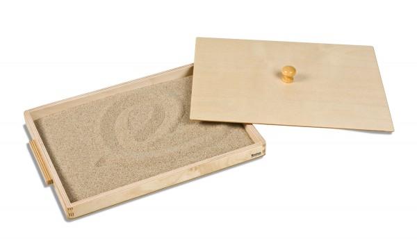 Kasten mit Sand für Schreibeübungen