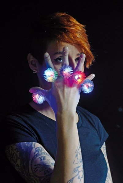Spike-Ring LED Rainbow