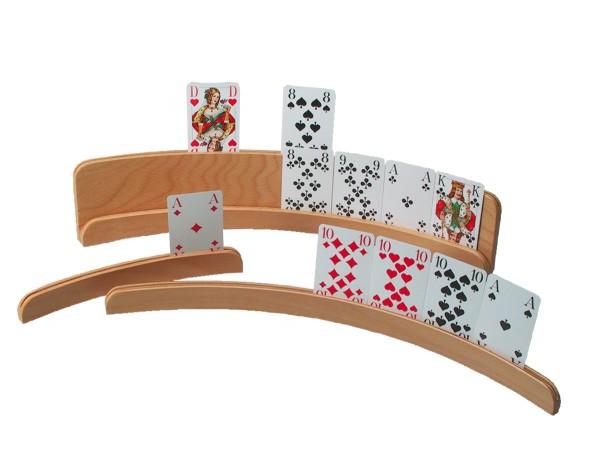 Spielkartenhalter aus Holz