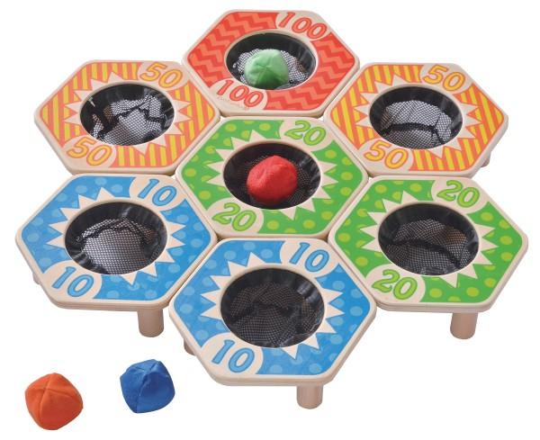 Wurfspiel Hexagon