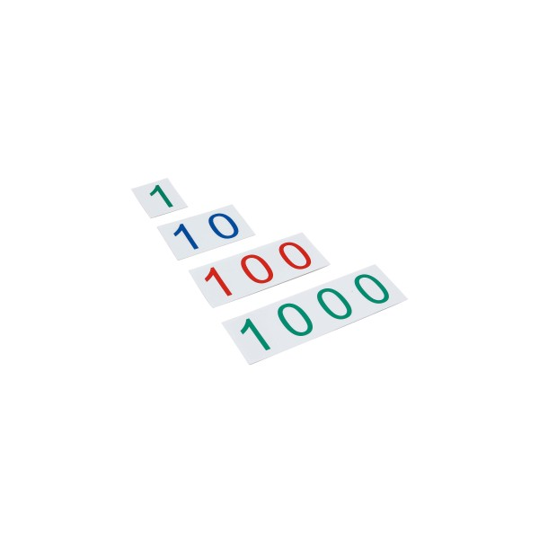 Große Zahlenkarten aus Kunststoff - Zahlenbereich 1-1000 (GAM)