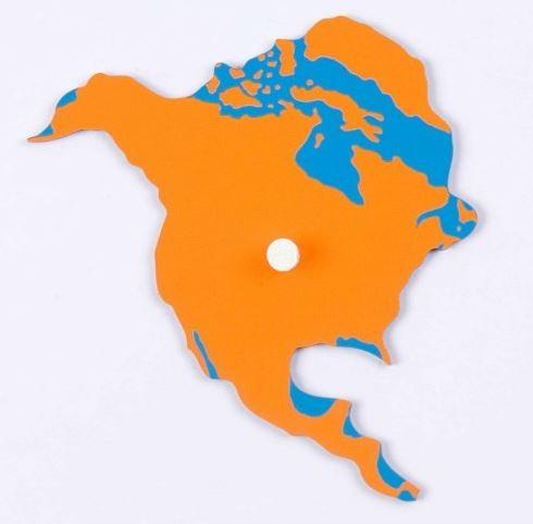Puzzlekarte Erdteile - Nordamerika