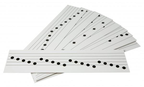 16 Bretter mit verschiedenen Musikübungen