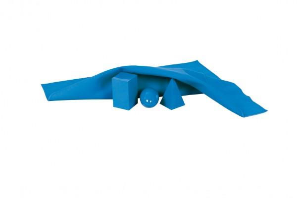 Blaues Tuch für Geometrische Körper