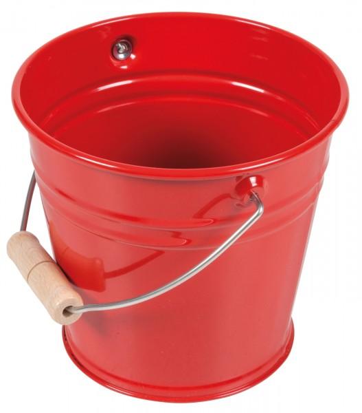 Kleiner Metalleimer rot