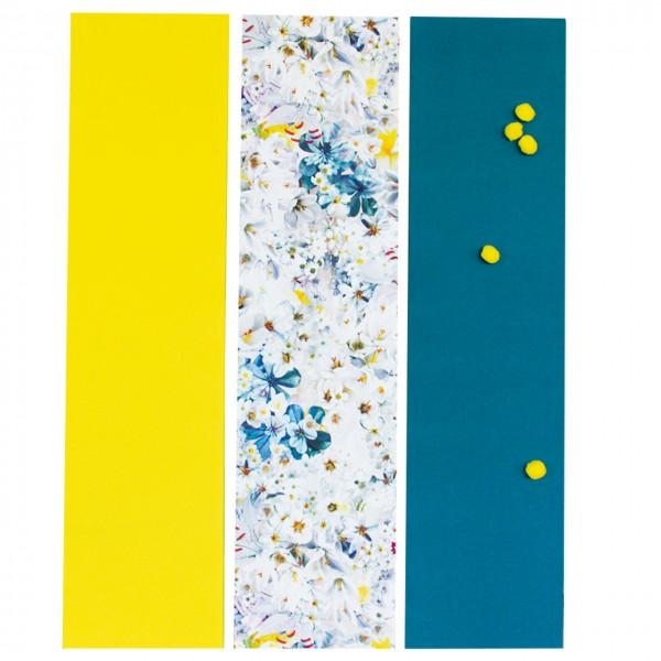 Wandtafeln 3-teilig Neo Flower Monochrom 3er Set