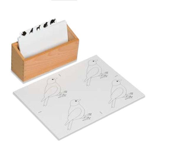Kasten für Kopiervorlagen Tierpuzzles Nienhuis
