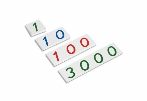 Kleine Zahlenkarten 1-3000
