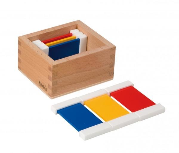 Farbtäfelchen 2 mal 3 Farben