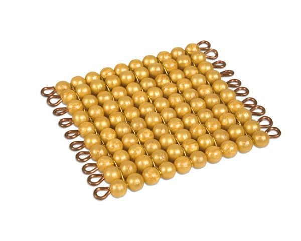 Goldquadrat lose Perlen