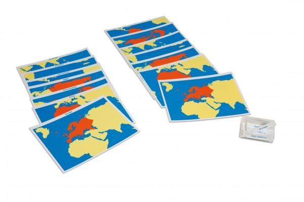 Kartensatz Erdteile