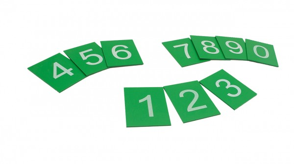 Sandpapierziffern in Druckschrift von 0 bis 9 (GAM)