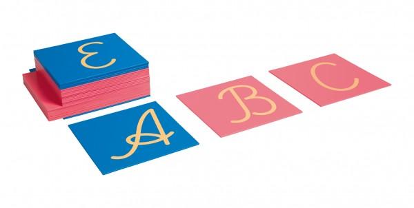 Sandpapiergroßbuchstaben lateinische Ausgangsschrift International Nienhuis