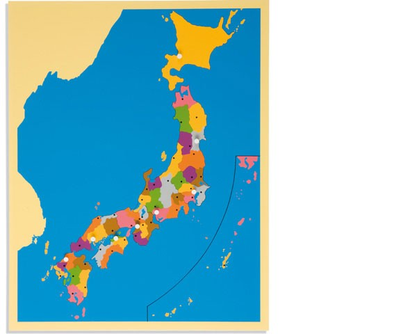 Puzzlekarte Japan