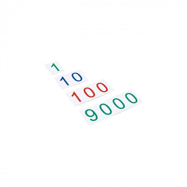 Große Zahlenkarten aus Kunststoff - Zahlenbereich 1-9000 (GAM)