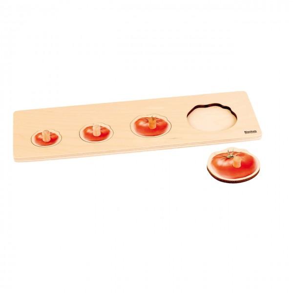 Toddler Puzzle 4 Tomaten Steckpuzzle 37,5 x 12 cm