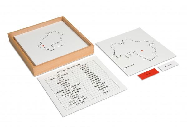 Kontrollkarten zum Deutschlandpuzzle (Bundesländer)