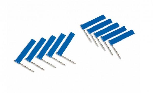 Fähnchen blau 10 Stück