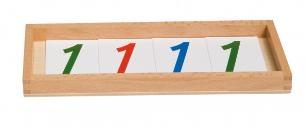 Kasten mit Zahlenkartensatz