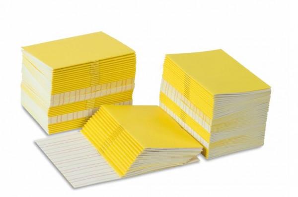 Schreibheftchen klein gelb (100 Stück)