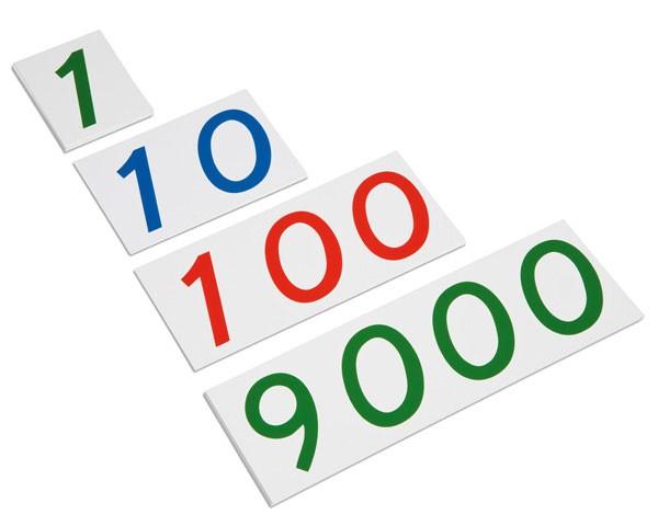 Große Zahlenkarten 1-9000