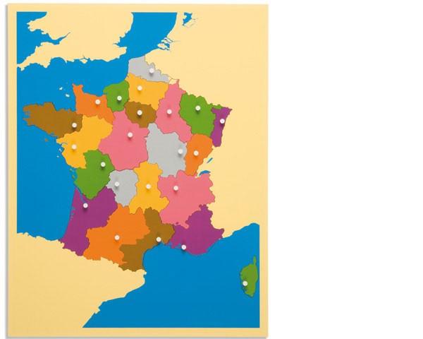 Puzzlekarte Frankreich