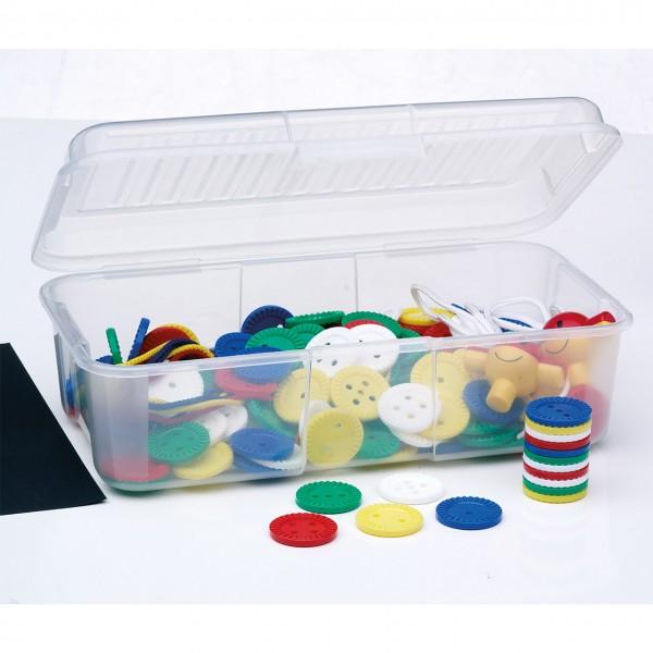 Materialsammlung Fädelknöpfe 40 mm in Aufbewahrungsbox