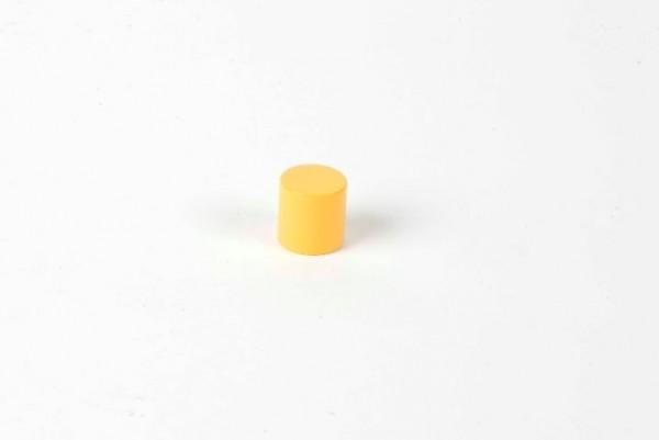 Farbige Zylinder - 3. gelber Zylinder