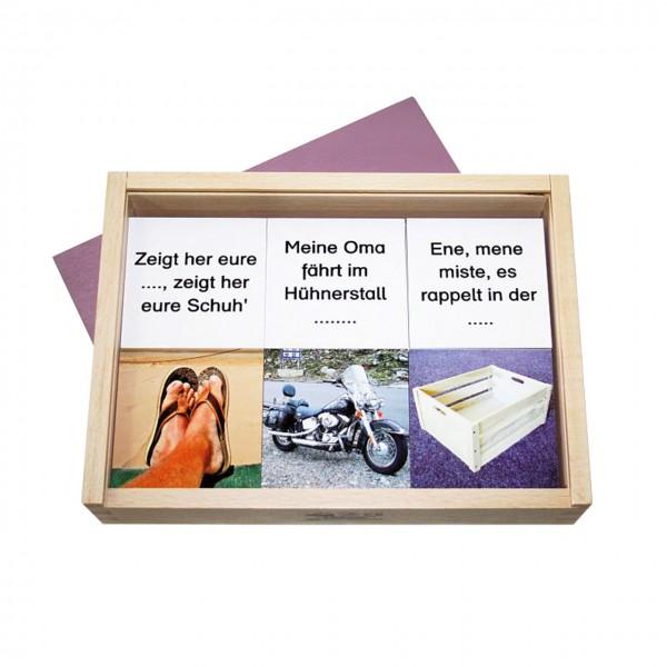 Kinderlieder Memo in Holzkasten