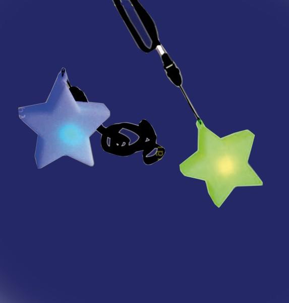 LED Stern mit Halskette