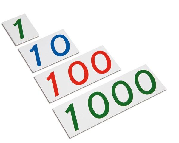 Große Zahlenkarten 1-1000