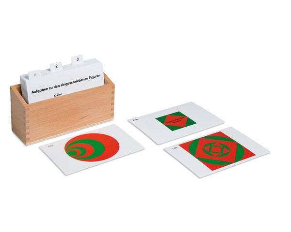 Kasten mit Aufgabenkarten für die eingeschriebenen und konzentrischen Figuren Nienhuis
