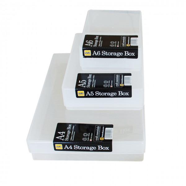 Kunststoffbox mit Deckel A6 slim