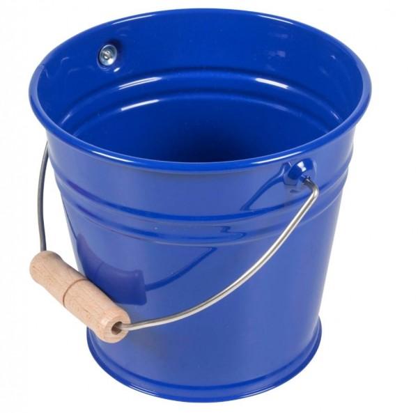 Kleiner Metalleimer blau