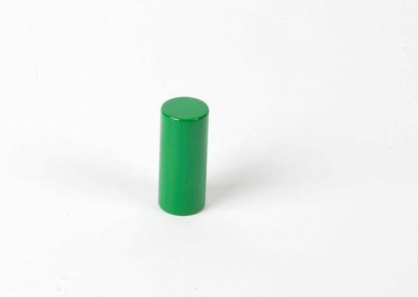 Farbige Zylinder - 3. grüner Zylinder