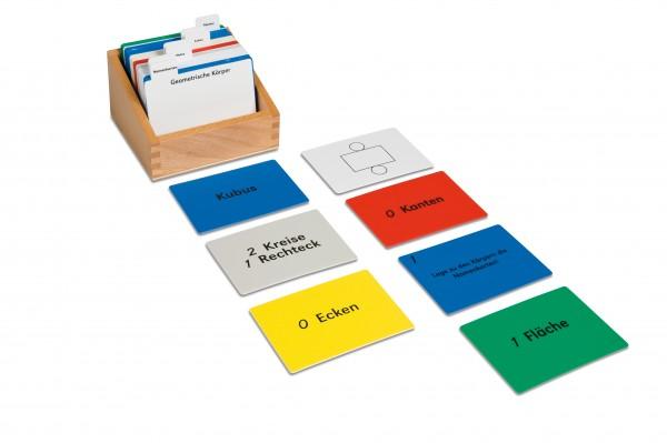 Aufgabenkarten für die Geometrischen Körper