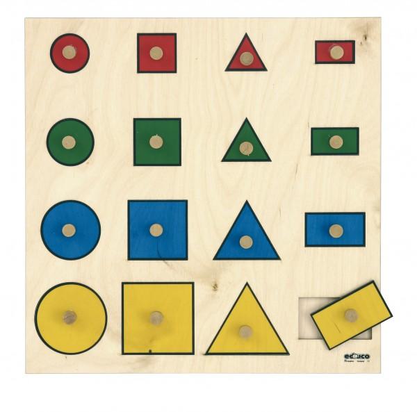 Vier geometrische Formen