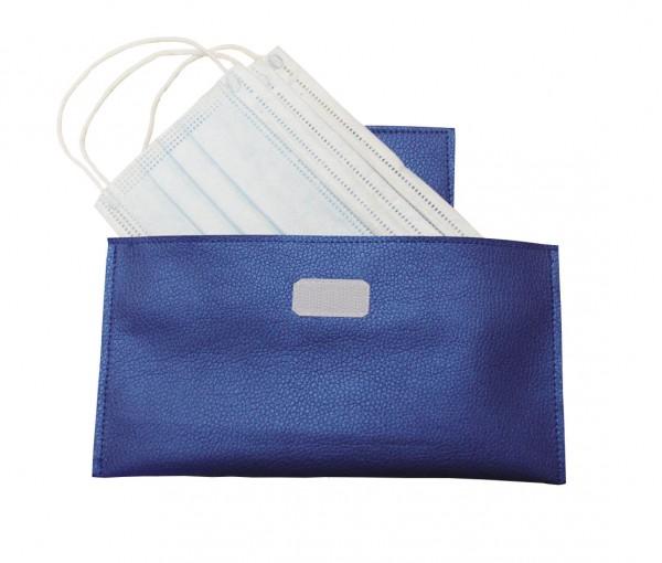 Tasche für Einwegmasken blau