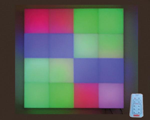 Große Stimmungs-Lichtwand mit Fernbedienung 60x60cm