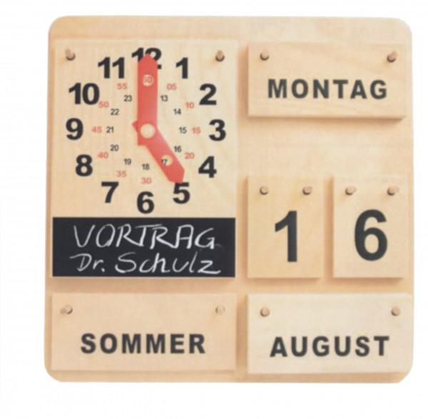 Kalender mit Aktionsuhr